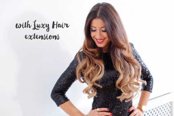 How to 5 minute holiday waves with Luxy Hair extensions