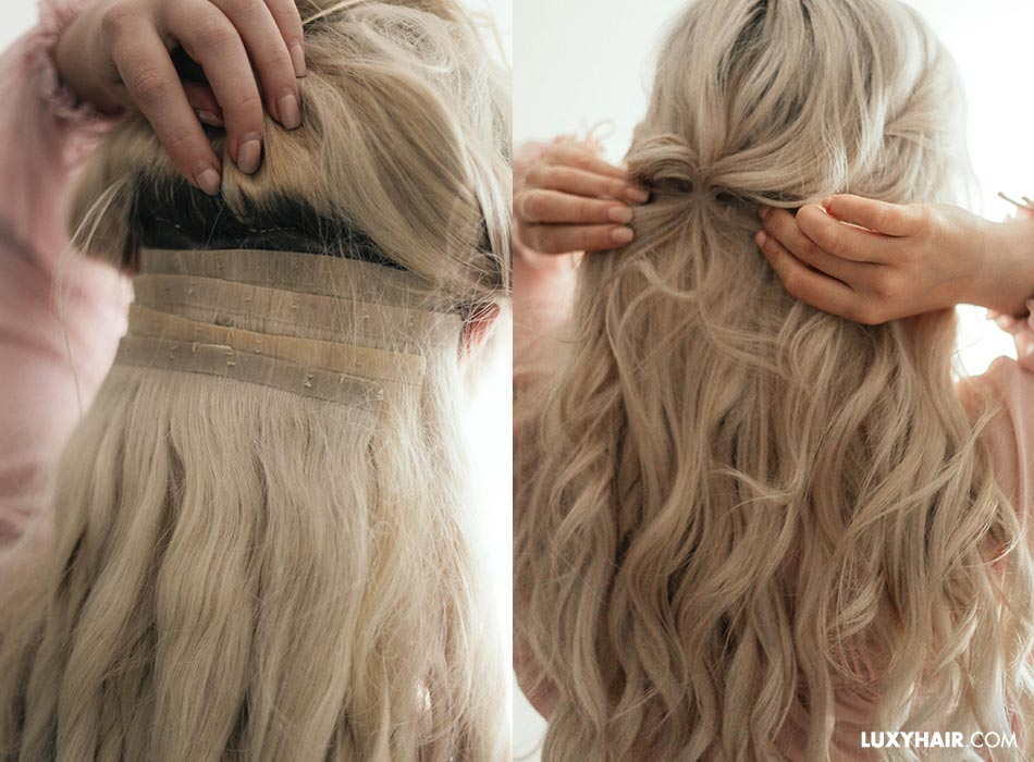 How to blend hair extensions