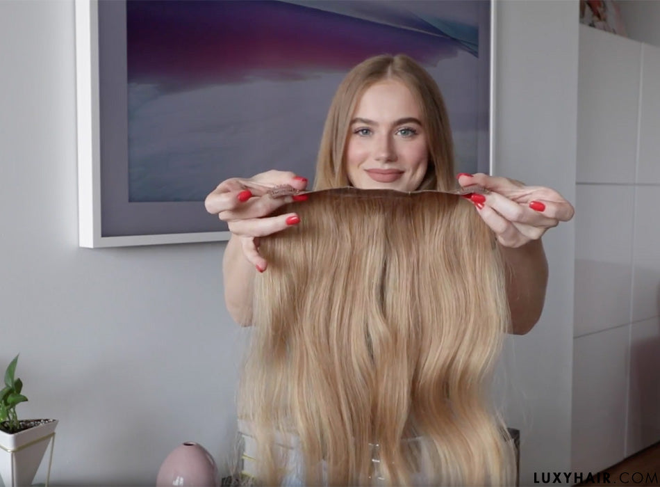 How To Blend Clip In Luxy Hair Extensions With Thin Hair