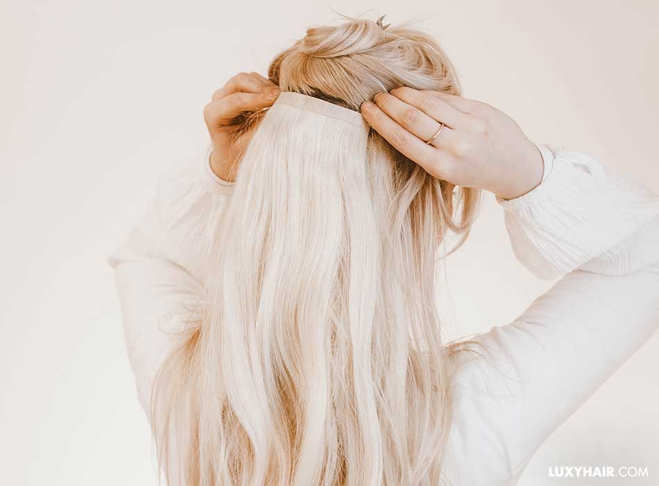 601df85d8ca7 How To Clip In Hair Extensions – Luxy Hair