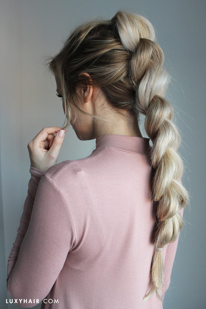 how to do a pull through braid