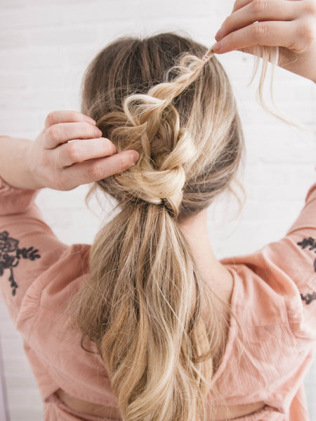 how to create a braided flower