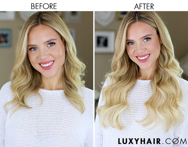 Luxy Hair Extensions 220g Ash Blonde