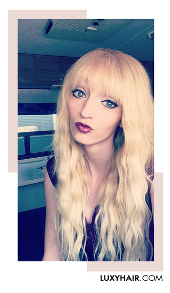 Luxy Hair Extensions Ash Blonde