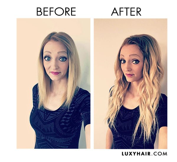 Luxy Hair Extensions Before After