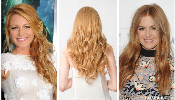 Luxy Hair Extensions Strawberry Blonde