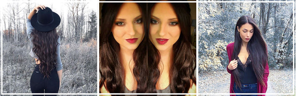 Luxy Hair Extensions: Mocha Brown