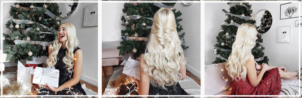 Luxy Hair Platinum Blonde Clip In Hair Extensions