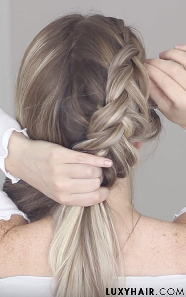 How to pinterest hair luxy hair dutch fishtail braid with luxy hair extensions pmusecretfo Choice Image