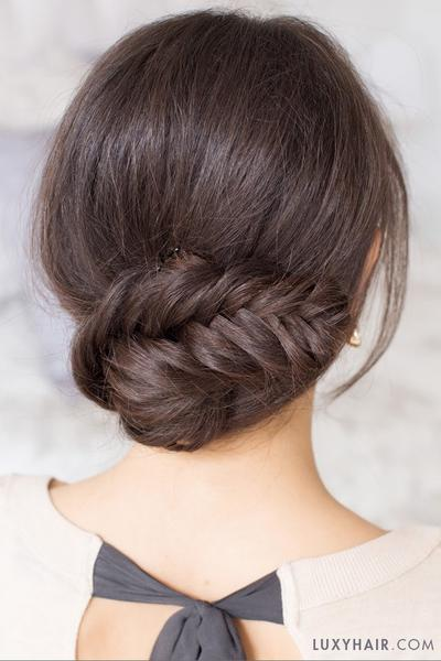 Holiday Hair: Fishtail Braid Updo