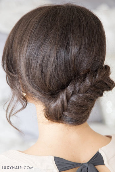 Hairstyles For Valentine's Day - Fishtail Updo