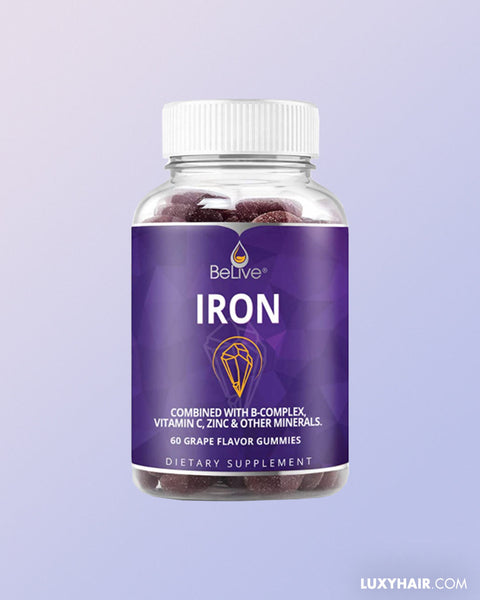 Iron Gummies Supplement with Vitamin C, A,