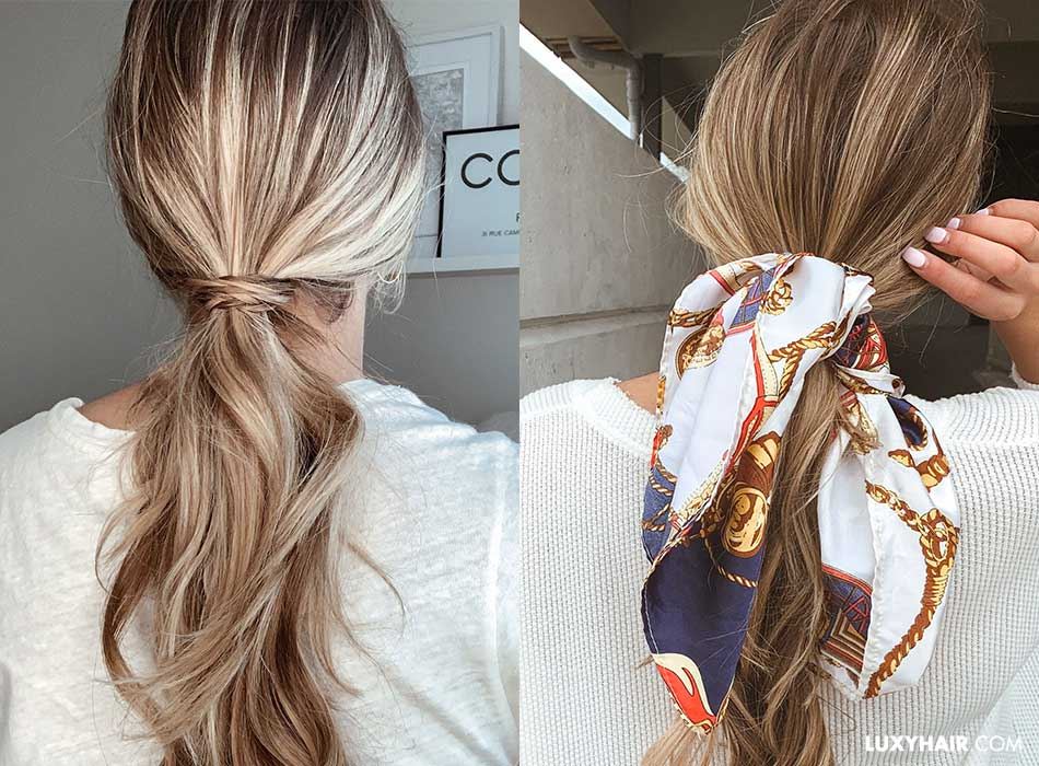 Different ways to use hair extensions