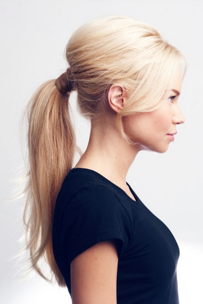 how to create a wrapped ponytail