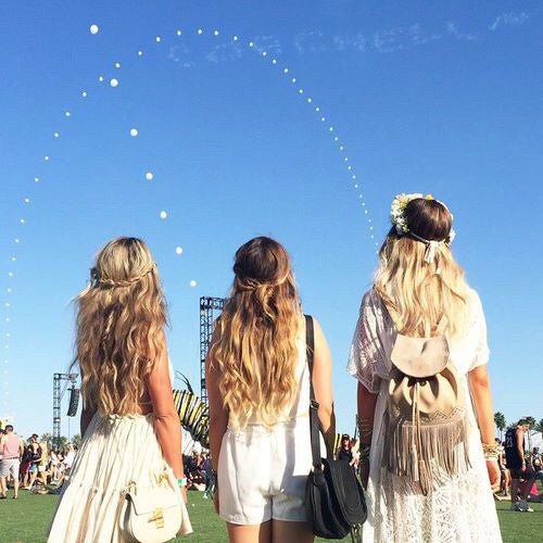 coachella fashion and hair ideas