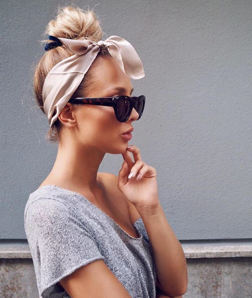 Top knot with hair accessory