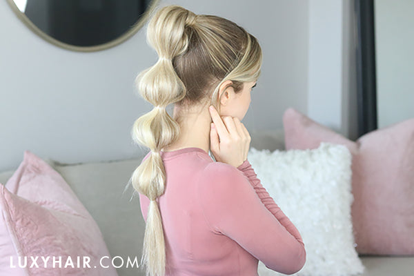 bubble braid ponytail how-to