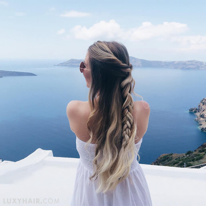 The Perfect Travel Hairstyle | Luxy Hair Blog
