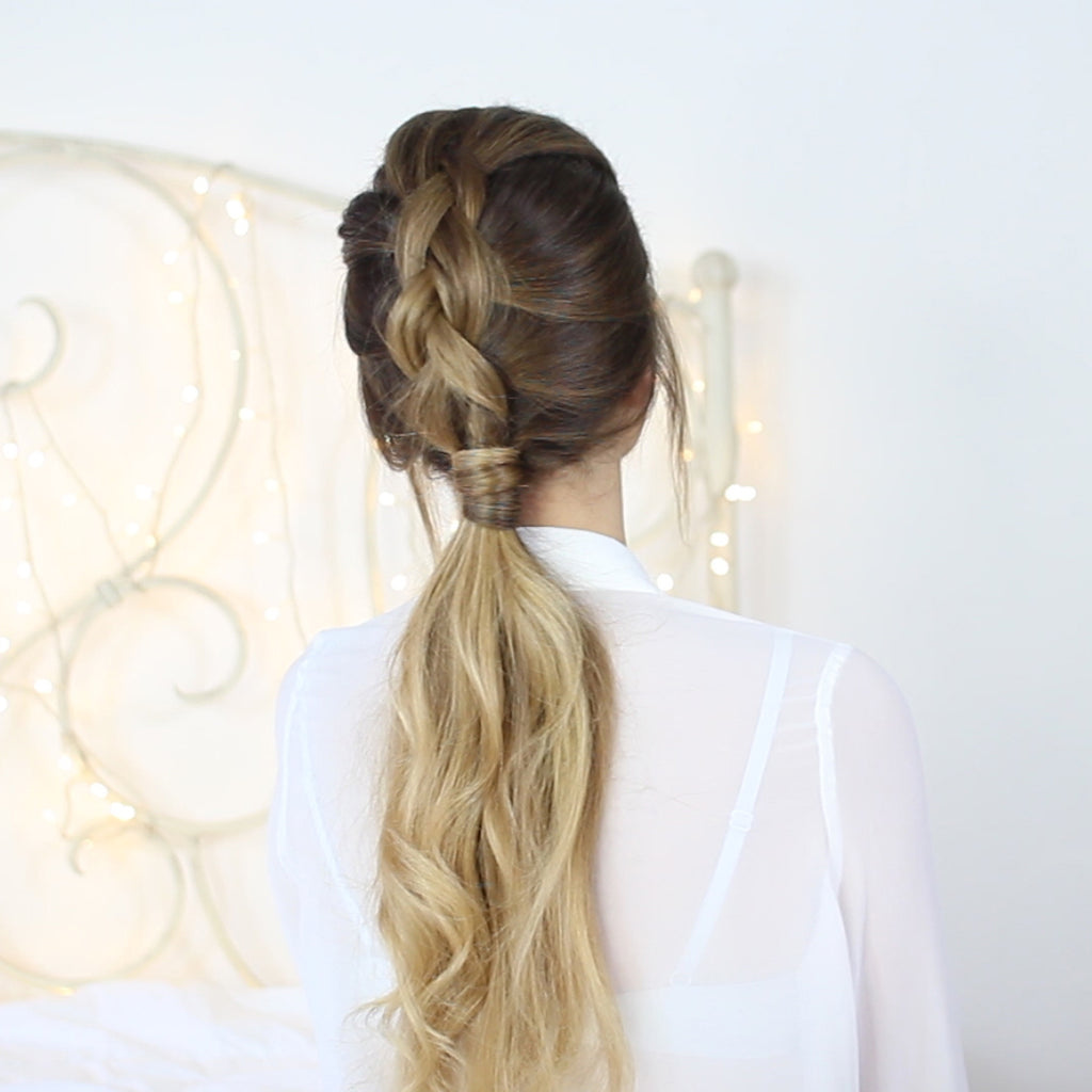 how to dutch braid ponytail