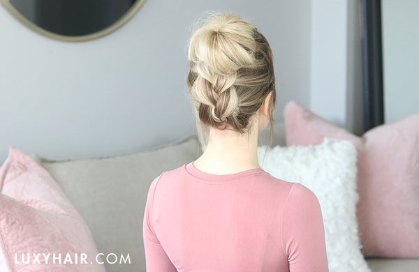 easy braided topknot