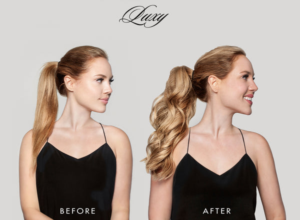 how to get a thicker ponytail with hair extensions