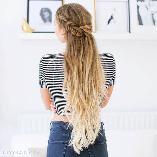 Fave July Hairstyle Fishtail Braid Halfup Hairstyle