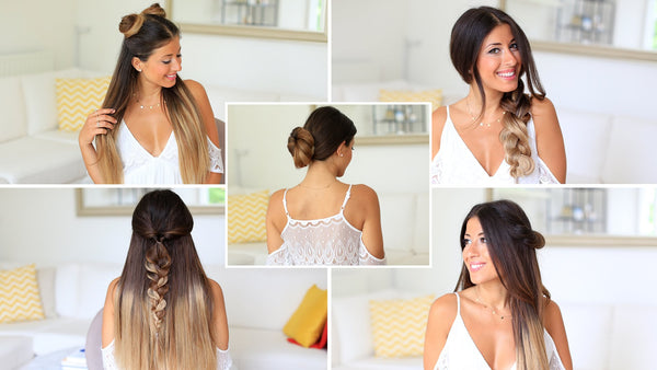 how to do easy hairstyles under one minute