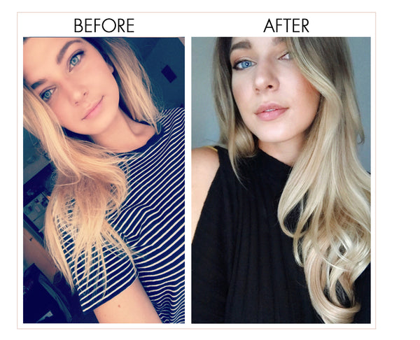 #myluxyhairstory 160g Dirty Blonde Luxy Hair extensions