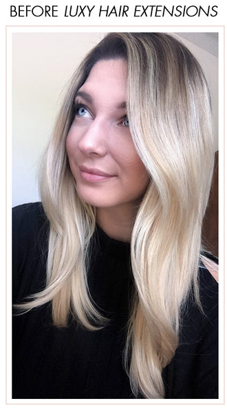 #myluxyhairstory Before Luxy Hair Extensions