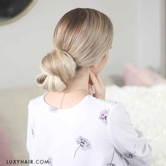 3 Simple Buns New Years Eve Holiday Hairstyles Luxy Hair
