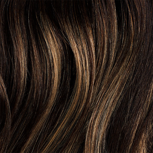 Dark Brown Balayage Halo Volume Bundle