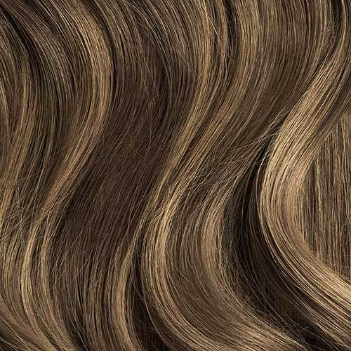 Seamless Ash Brown Balayage Volume Bundle Clip-Ins