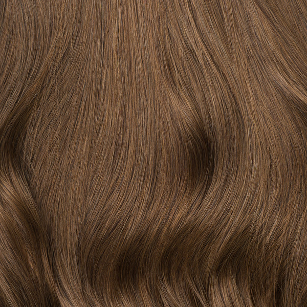 Chestnut Brown Clip-In Bangs