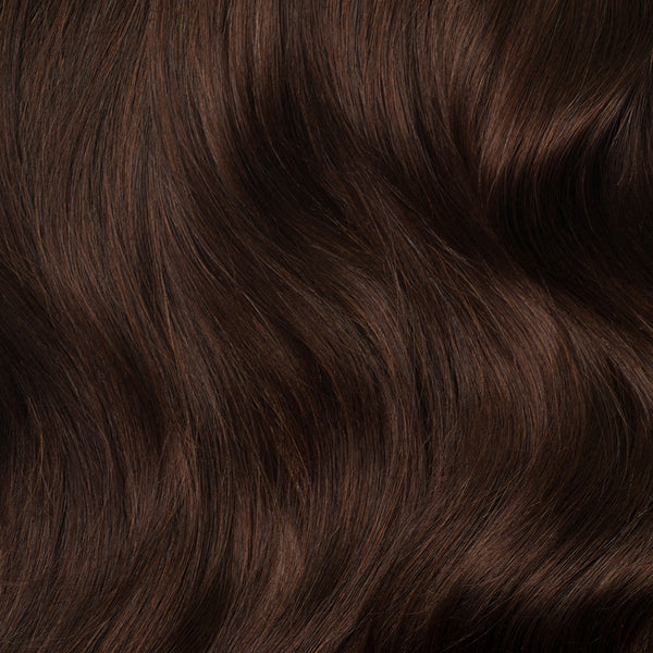 Clip In Hair Extensions Chocolate Brown Color 4 160 Grams Luxy Hair