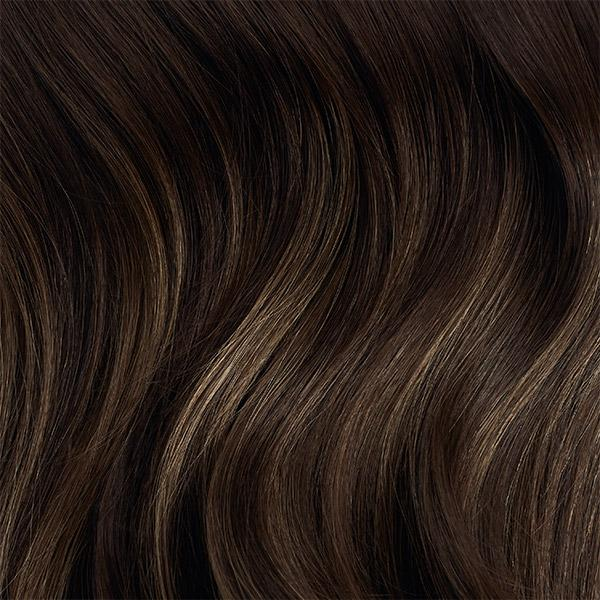Seamless Dark Ash Brown Balayage Volume Bundle Clip-Ins