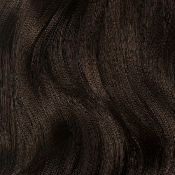 Dark Brown Clip-In Bangs