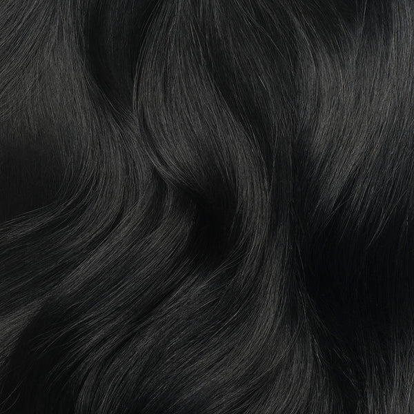 Seamless Jet Black Volume Bundle Clip-Ins