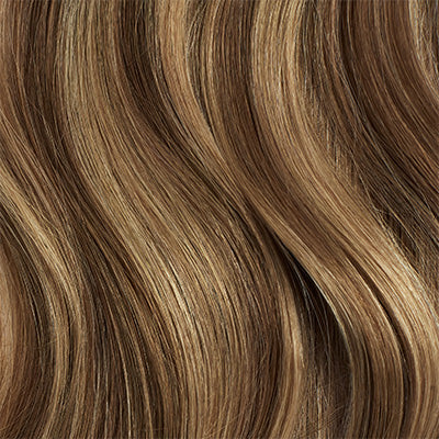 Seamless Chestnut Brown Highlights Clip-Ins