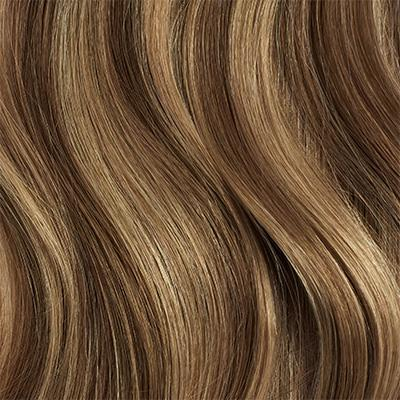 Seamless Chestnut Brown Highlights Volume Bundle Clip-Ins