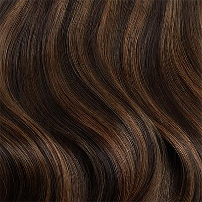 Seamless Dark Brown Highlights Volumizer Weft