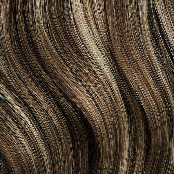 Seamless Ash Brown Highlights Volumizer Weft