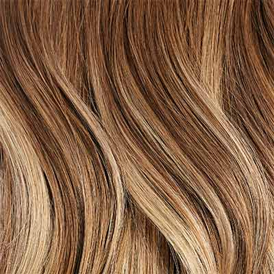 Seamless Chestnut Brown Balayage Clip-Ins