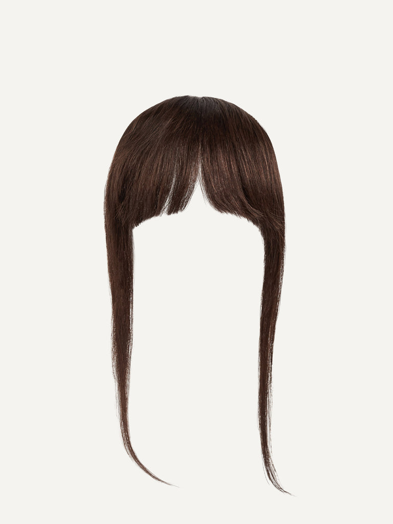 Luxy Hair - Chocolate Brown Clip-In Bangs