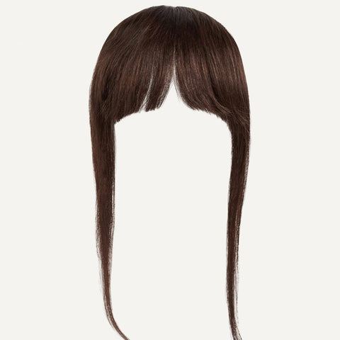 Clip In Bangs Color Chocolate Brown Luxy Hair Luxy Hair