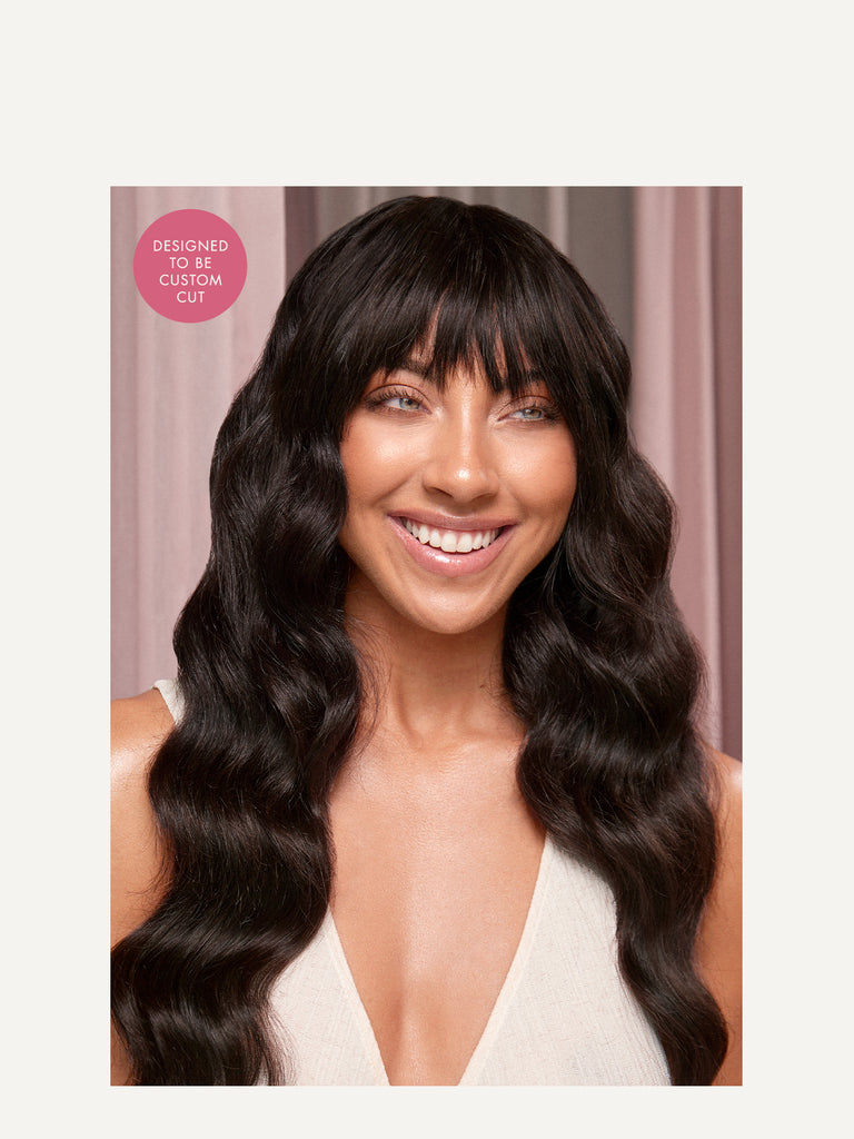 Luxy Hair - Mocha Brown Clip-In Bangs