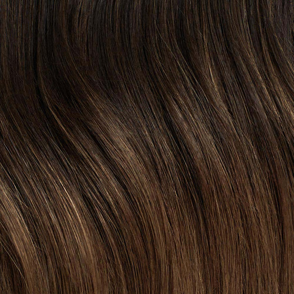 Seamless Ombre Chestnut Volume Bundle Clip-Ins