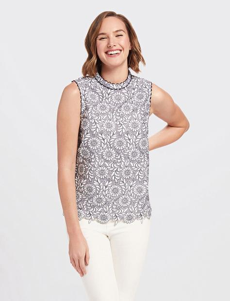 Draper James - Floral Lace Top