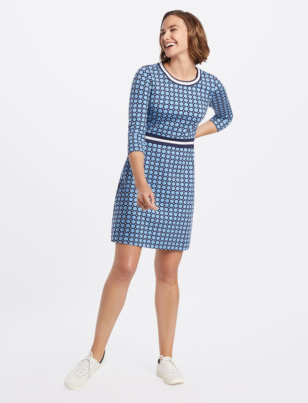 Draper James - Persley Ponte Dress - Blue Dot