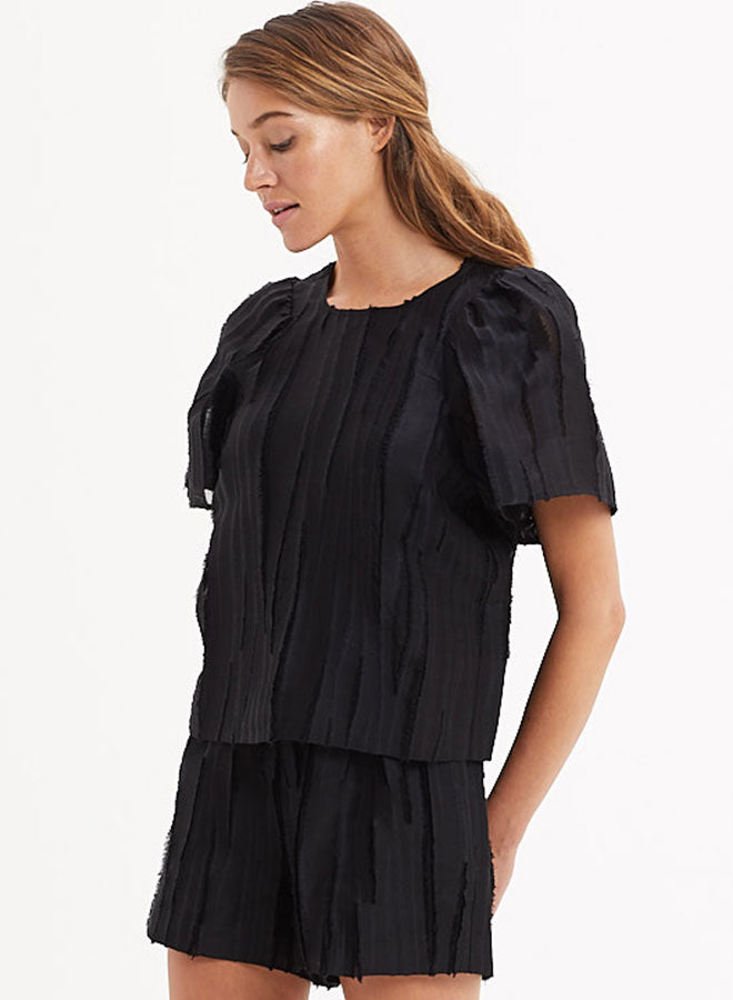 Marie Oliver - Black Bell Sleeve Blouse