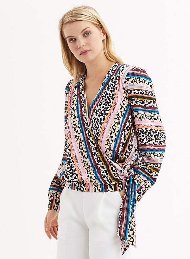 Marie Oliver - Animal Stripe Brielle Blouse
